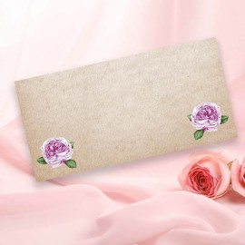 Rosebud Wedding Place Card