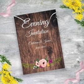 Rustic Evening Invitation