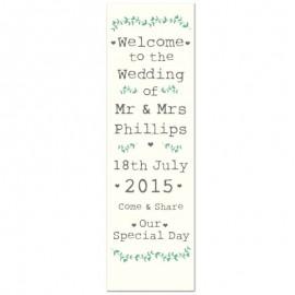 Rustic Pop-Up Wedding Sign