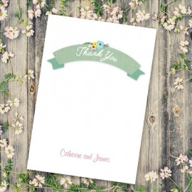 Marriage Vows Thank You Card