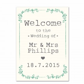 Rustic Small Welcome Sign
