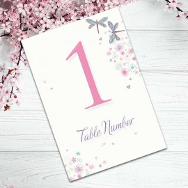 Serenity Table Numbers - Pack of 10