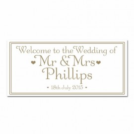 Signature Gold Wedding Banner