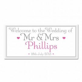 Signature Pink Wedding Banner