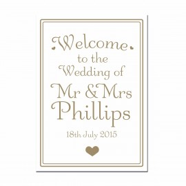 Signature Gold Large Wedding Sign