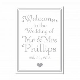 Signature Silver Small Welcome Sign