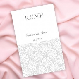 Silver Art Deco RSVP Card