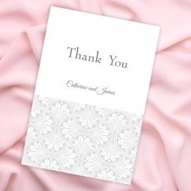 Silver Art Deco Thank You Card