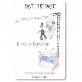 Taking The Plunge Save the Date Magnet