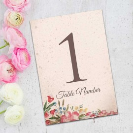 Ticket to Love Table Numbers - Pack of 10