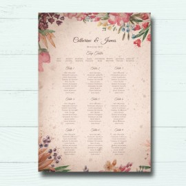 Ticket To Love Wedding Table Plan