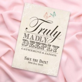 Truly Madly Deeply Save the Date Card
