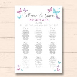 Two Become One Wedding Table Plan