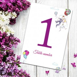 Up Up & Away Table Numbers - Pack of 10