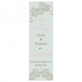 Vintage Birdcage Pop-Up Wedding Sign