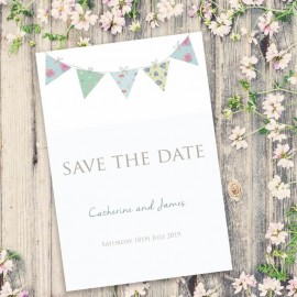 Bunting Fun Save the Date Card
