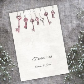 Love is the Key Thank You Card