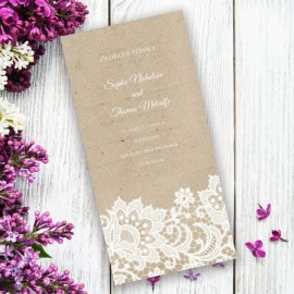 Wedding Lace Order of Service