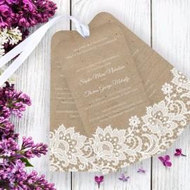Wedding Lace Wedding Invitation