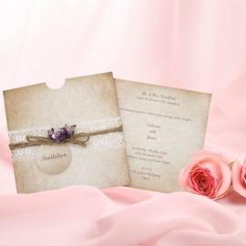 Rosebud Wedding Invitation