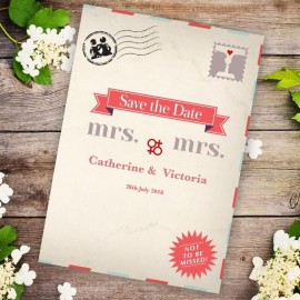 Kiss Kiss Save the Date Card