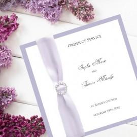 Violet Diamante Buckle Order of Service