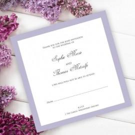 Violet Diamante Buckle RSVP Card