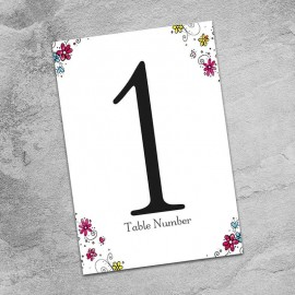 Wedding Bliss Table Numbers - Pack of 10