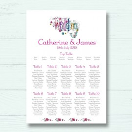 Wedding Bliss Wedding Table Plan
