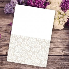 Wedding Damask Thank You Card