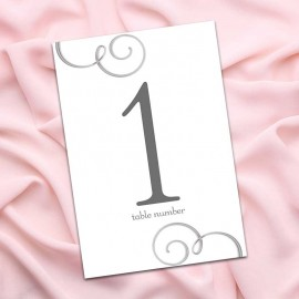 Wedding Day Table Numbers - Pack of 10
