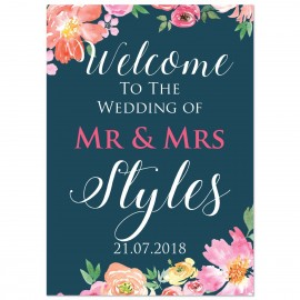 Wedding Day Large Welcome Sign