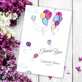 Up Up & Away Thank You Card