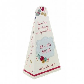 Whimsical Pyramid Favour Box - Pack of 12