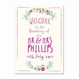 Whimsical Small Welcome Sign