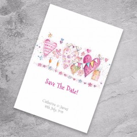 With Love Save the Date Card