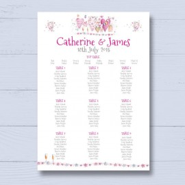 With Love Wedding Table Plan