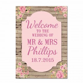 Wooden Small Welcome Sign