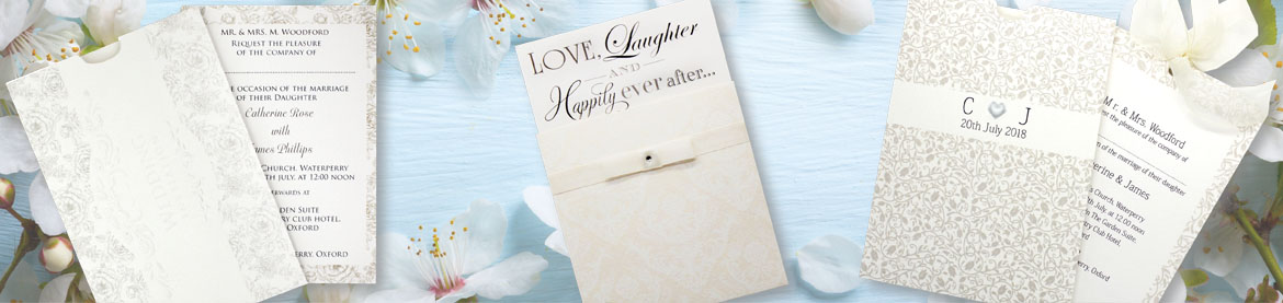 View our full collection of cream wedding invitations