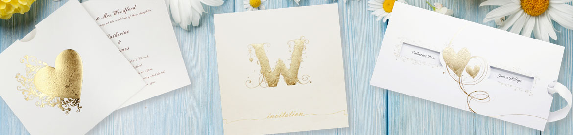 View our full collection of gold wedding invitations