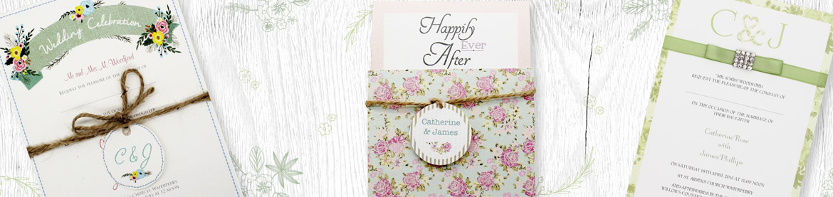 View our full collection of green wedding invitations