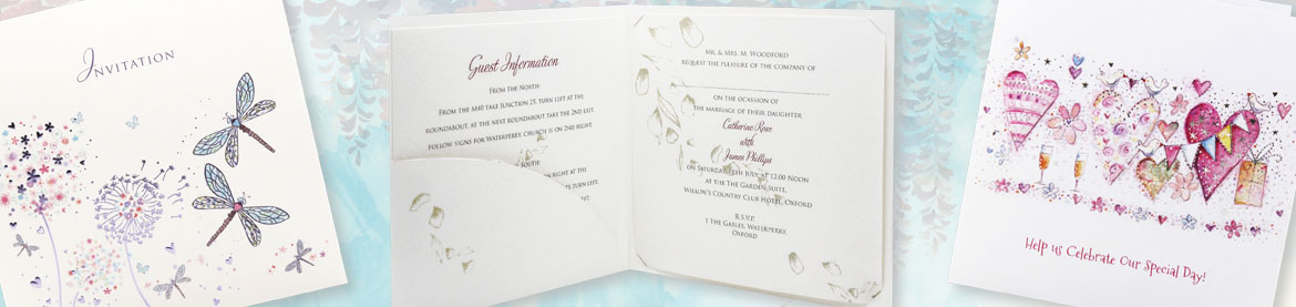 view our full collection of pocket fold wedding invitations