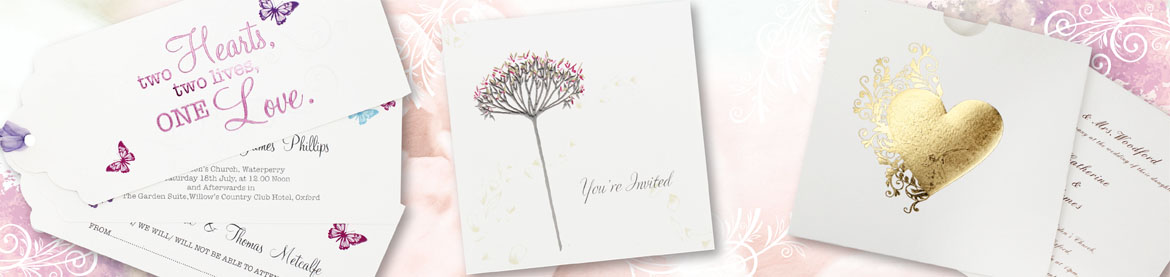 view our full collection of personalised white wedding invitations
